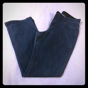 Stretch comfortable gap waisted jeans